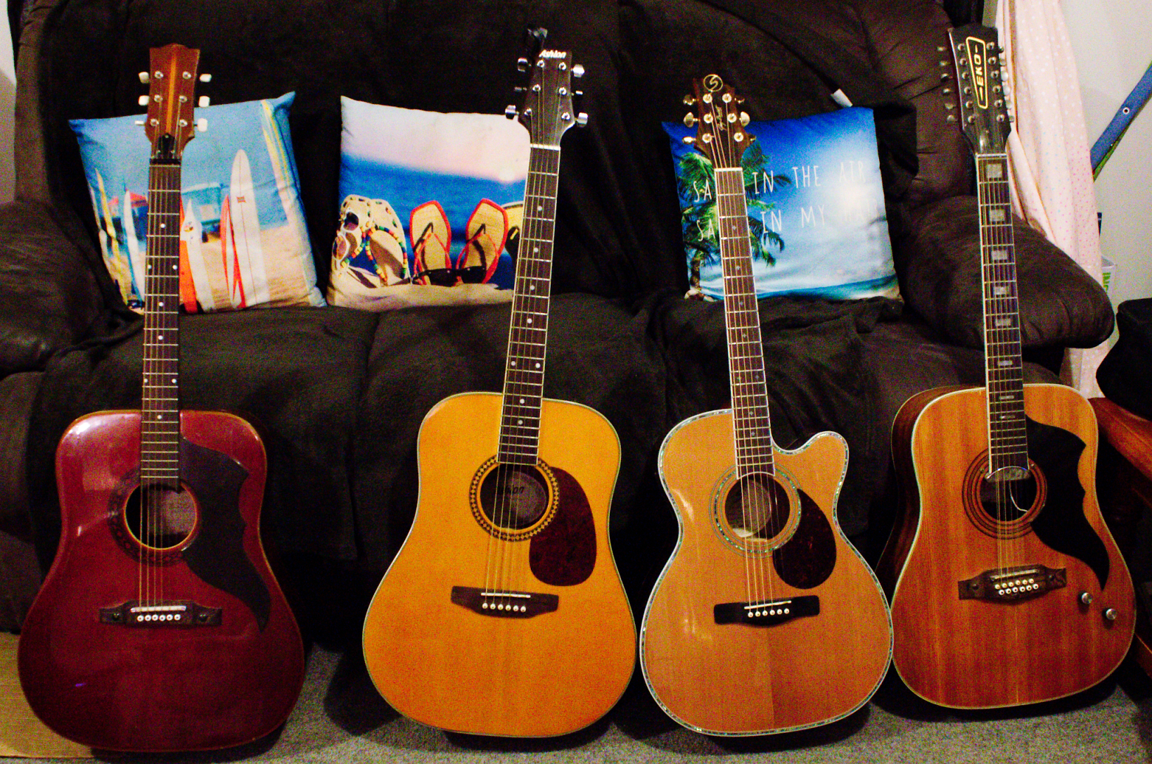 Family of Acoustic Guitars