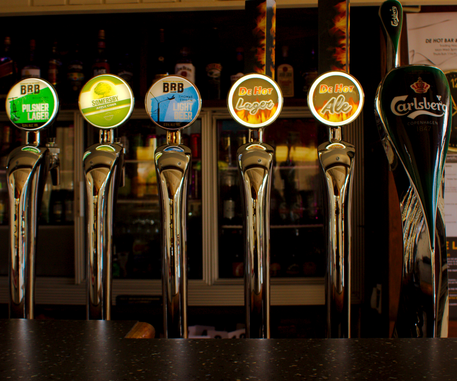 Tapped Beer at De Hot Bar & Grill