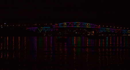 Auckland Rainbow Harbour Bridge